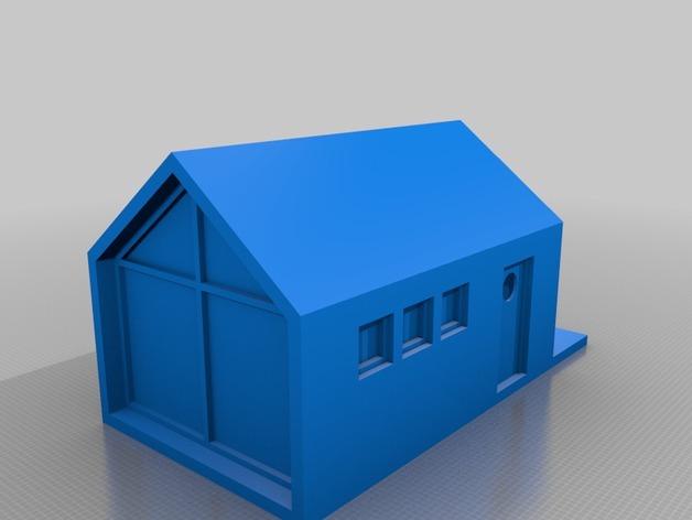 底层架空房屋模型 3D打印模型渲染图