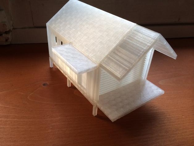 底层架空房屋模型