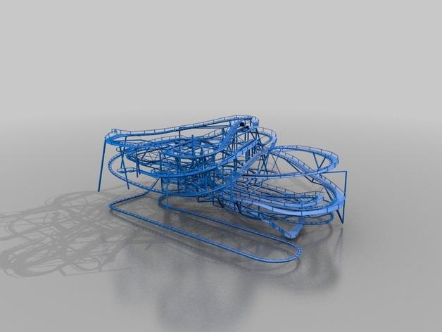 太空山过山车 3D打印模型渲染图