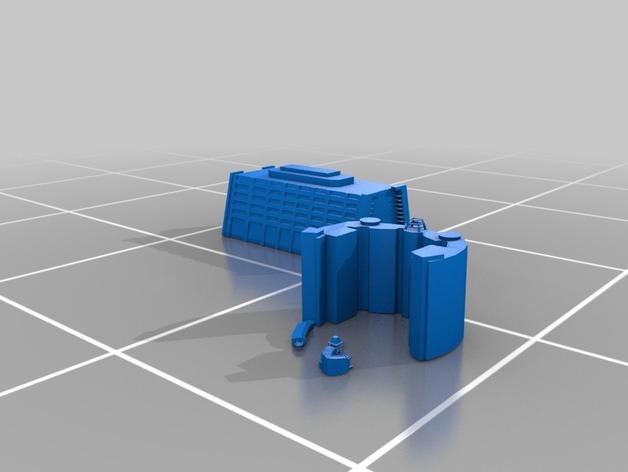 迪士尼当代酒店和湾胡塔 3D打印模型渲染图