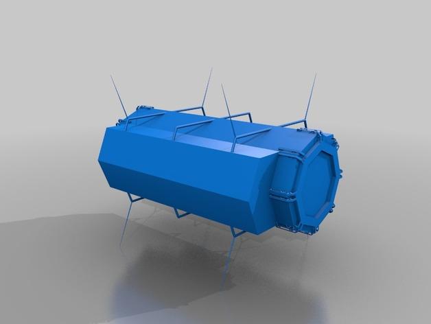 太空中转站 3D打印模型渲染图