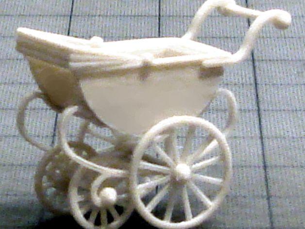手推车模型 3D打印模型渲染图