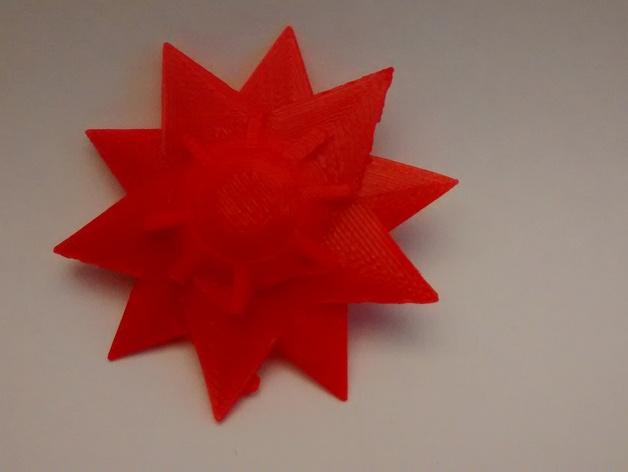 口袋妖怪宝石海星  3D打印模型渲染图