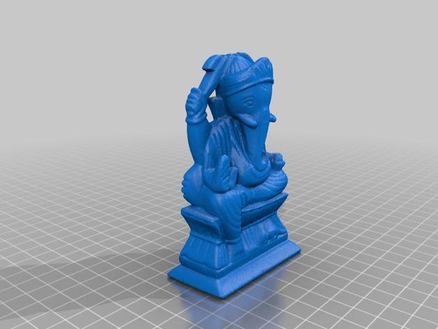 象神格涅沙 3D打印模型渲染图