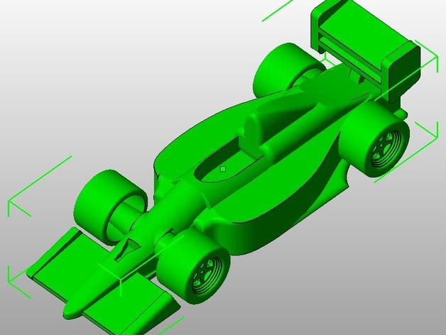 F1赛车 3D打印模型渲染图