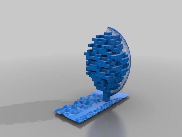 Mawer塔 3D打印模型渲染图