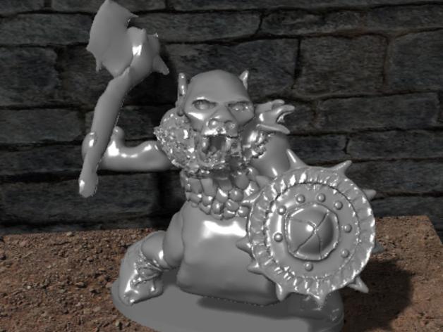 哥布林模型 3D打印模型渲染图