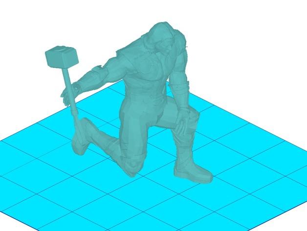 雷神和雷神之锤 3D打印模型渲染图