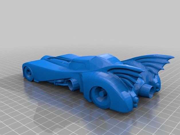 蝙蝠车  3D打印模型渲染图