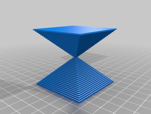 沙漏锥  3D打印模型渲染图
