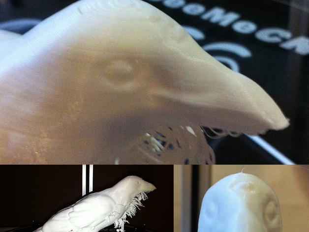 三眼乌鸦 3D打印模型渲染图