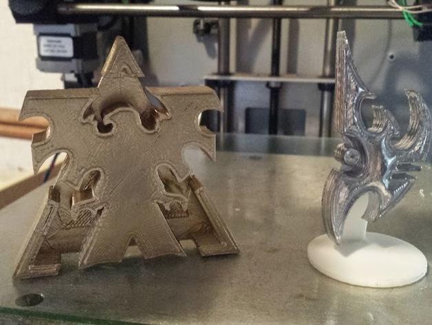 星际争霸标志 3D打印模型渲染图