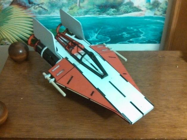 星球大战A翼拦截机 3D打印模型渲染图