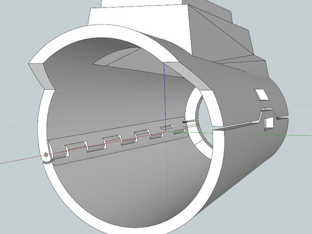 星球大战 曼达洛人的护臂盔甲 3D打印模型渲染图