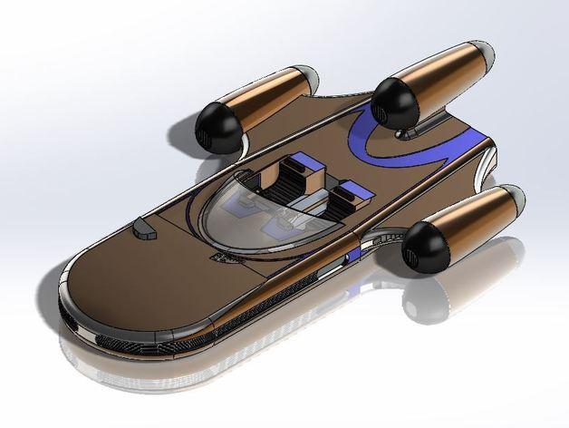 星球大战陆行艇 3D打印模型渲染图
