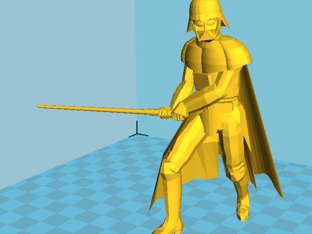 星球大战人物 达斯维达 3D打印模型渲染图