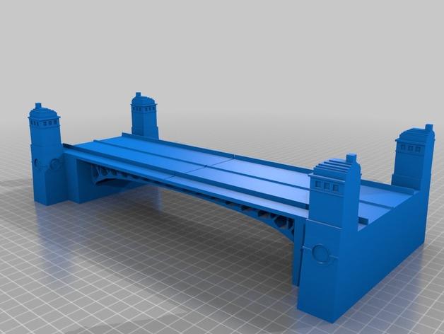 密歇根大街桥 3D打印模型渲染图