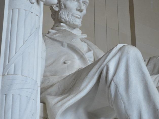 林肯雕塑  3D打印模型渲染图