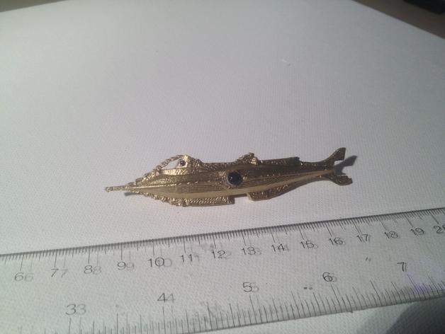 瓶子中的鹦鹉螺 3D打印模型渲染图