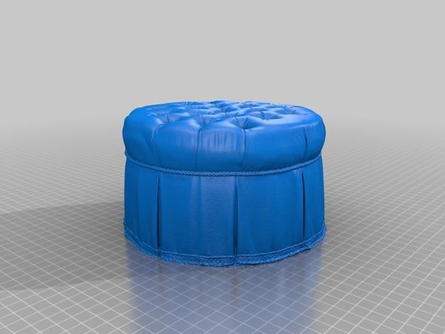 圆形沙发凳 3D打印模型渲染图