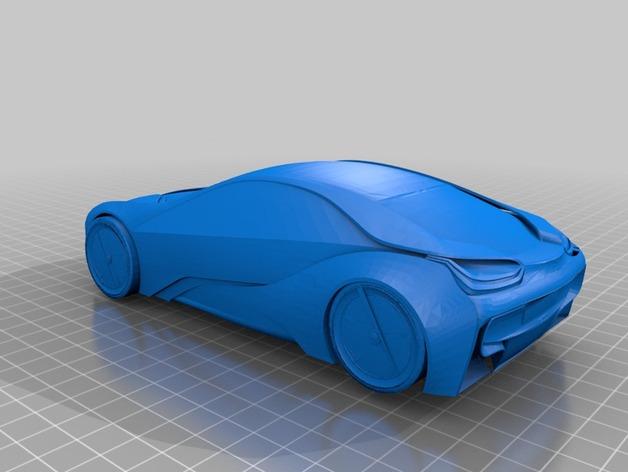 宝马汽车  3D打印模型渲染图