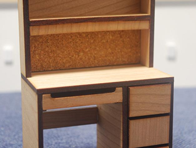 宿舍的桌子和柜子 3D打印模型渲染图