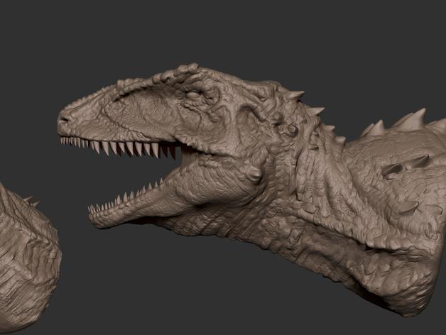班卓龙头部模型 3D打印模型渲染图