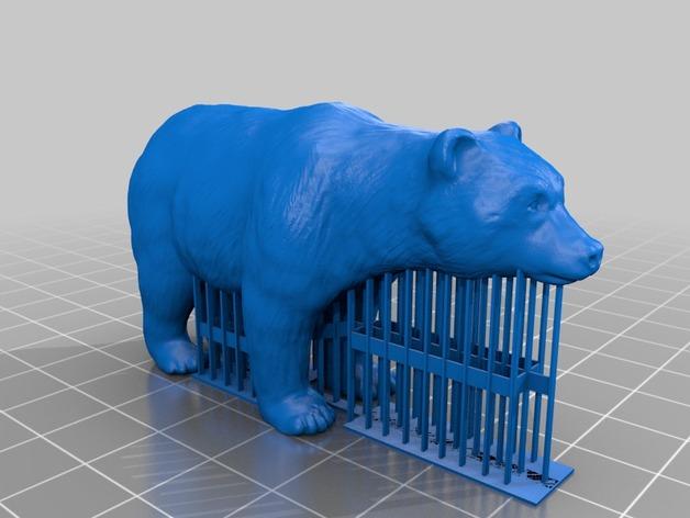 狗熊 3D打印模型渲染图