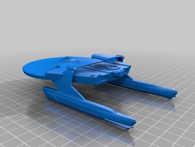 米兰达号星舰 3D打印模型渲染图