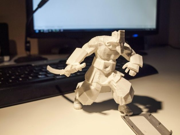 Juggernaut红坦克  3D打印模型渲染图
