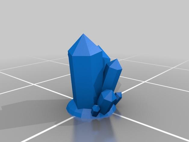 大水晶 3D打印模型渲染图