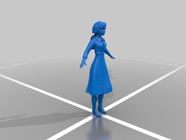 伊丽莎白人物模型 3D打印模型渲染图