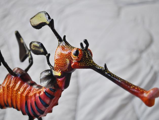 叶海龙 海龙 3D打印模型渲染图