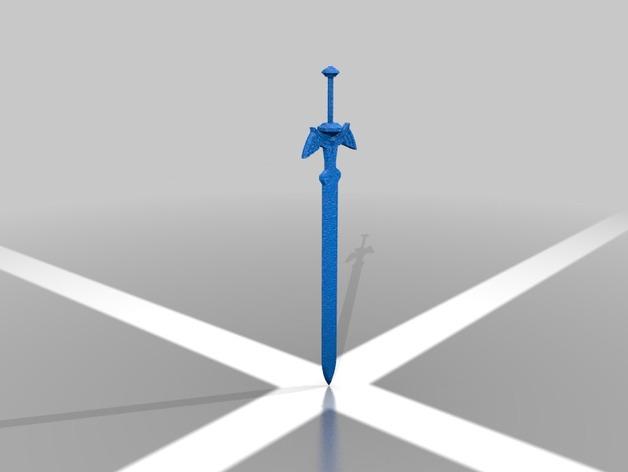塞尔达传说 大师之剑 3D打印模型渲染图