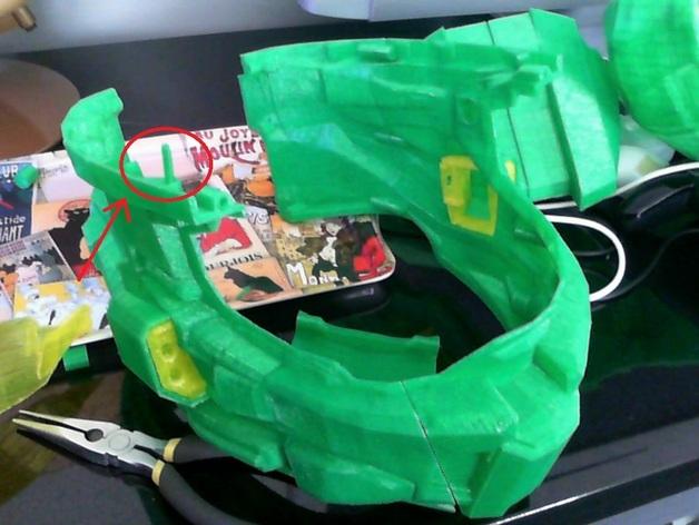 光晕头盔零部件 3D打印模型渲染图