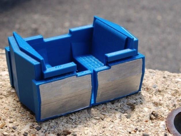 明日之地运输车座位 3D打印模型渲染图