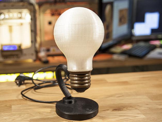 电灯灯泡 3D打印模型渲染图