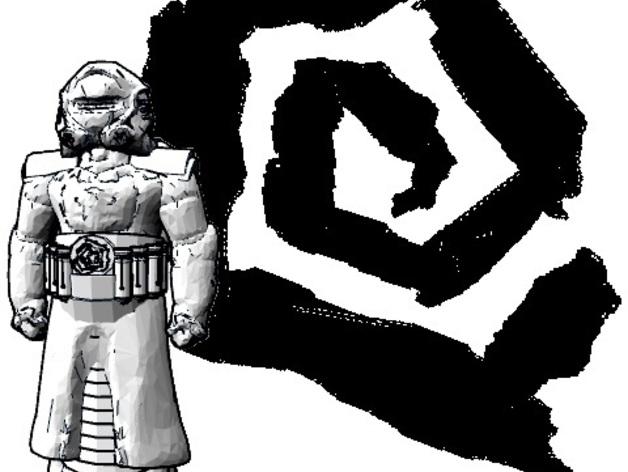 超级战士 游戏模型