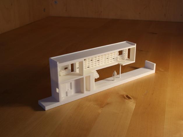 澳洲联储银行大厦 3D打印模型渲染图
