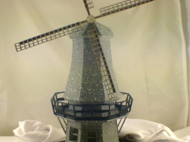 荷兰风车 3D打印模型渲染图