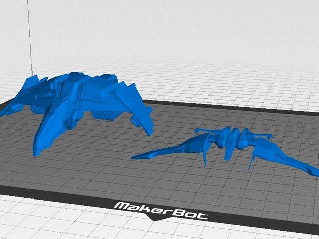 Caldari 战斗机  轰炸机 3D打印模型渲染图