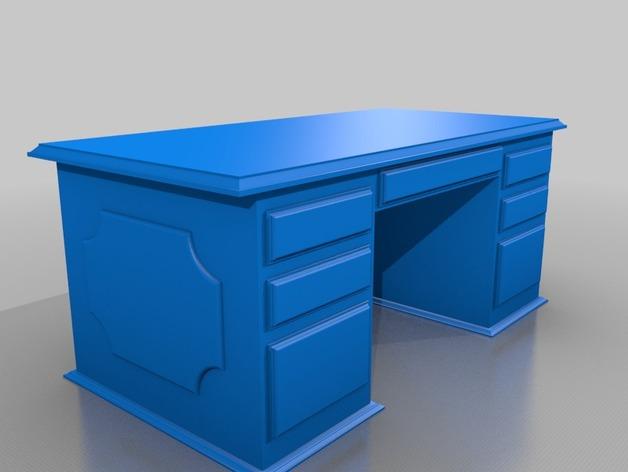 办公桌 3D打印模型渲染图