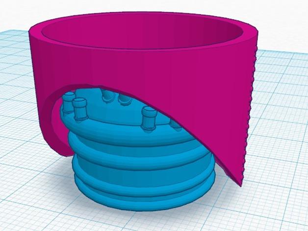火箭排气管 3D打印模型渲染图