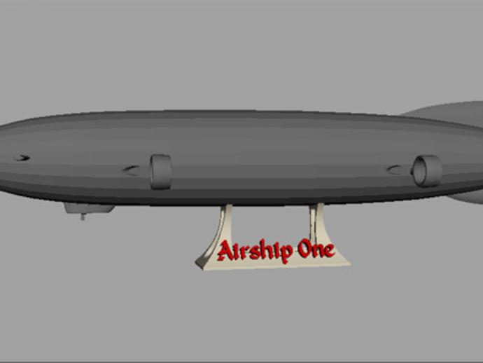 齐柏林硬式飞艇 3D打印模型渲染图
