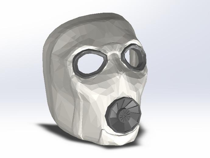 无主之地2Psycho面具 3D打印模型渲染图