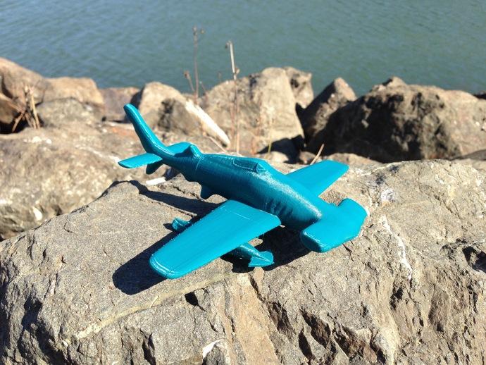 HH-7P攻击机 3D打印模型渲染图
