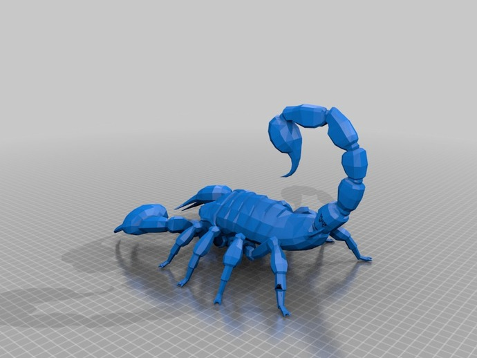 新维加斯蝎子 3D打印模型渲染图