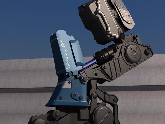 机甲战士 3D打印模型渲染图