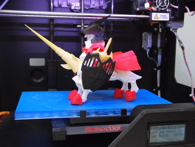 机器人敢达 3D打印模型渲染图