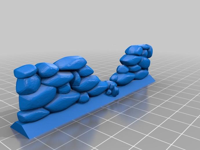石墙 3D打印模型渲染图